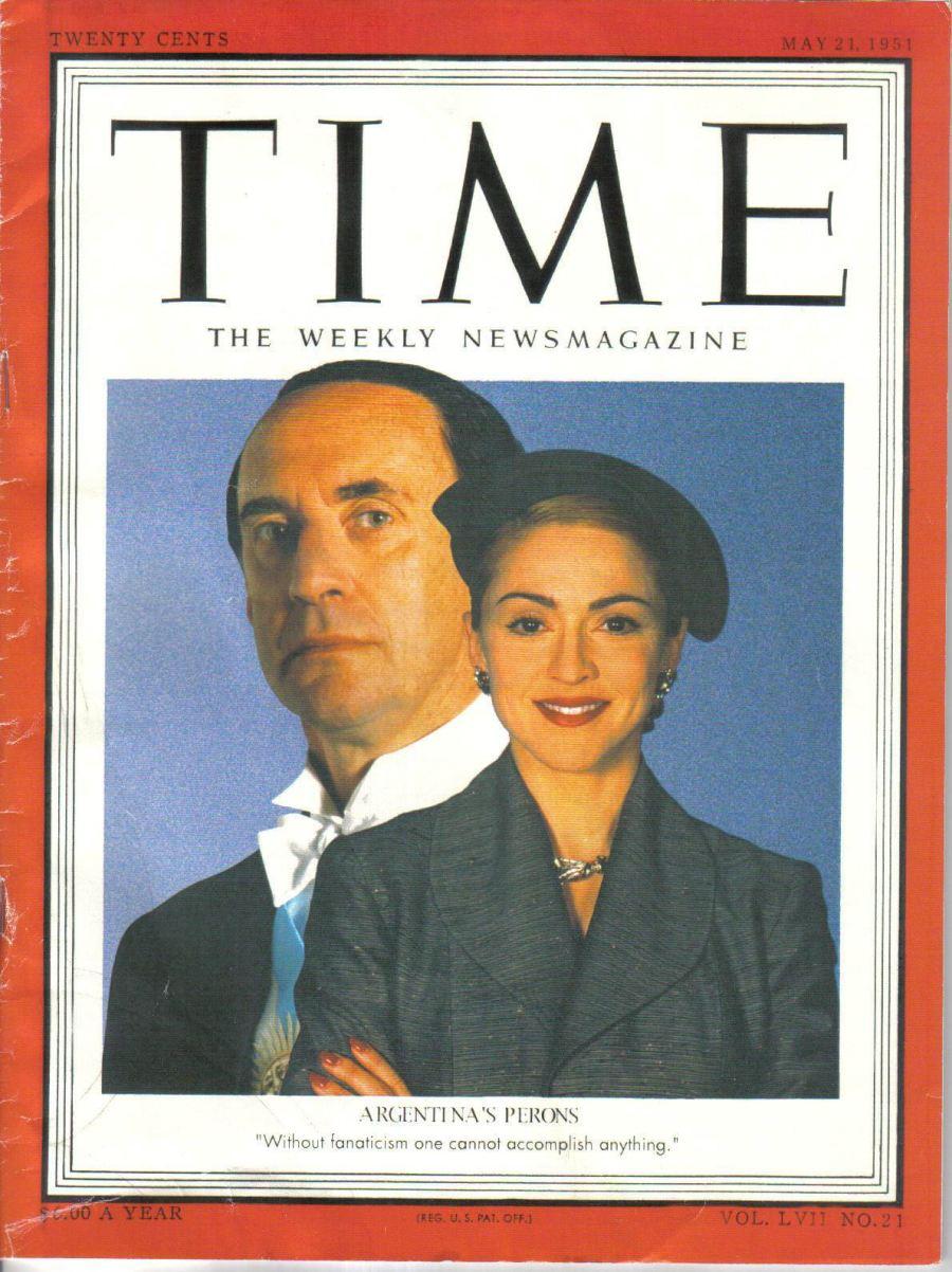 La copertina del Time raffigurante i Peron